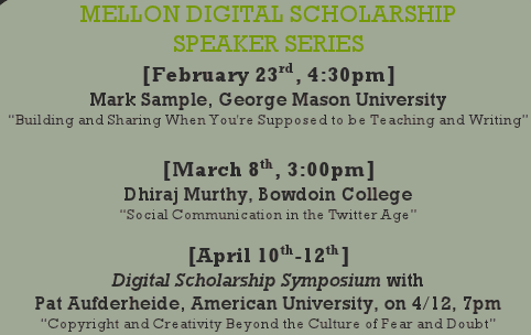 Mellon Digital Scholarship Speaker Series
