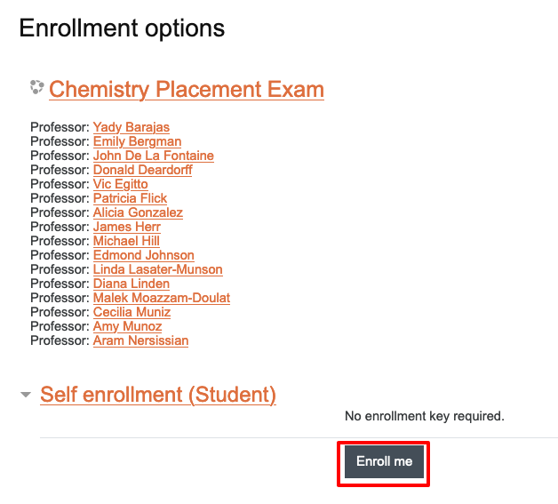 image of self enrollment button