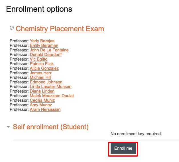 image of self enrollment button